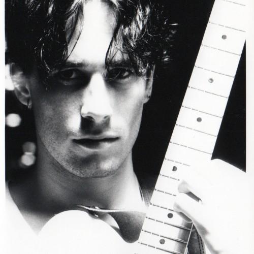 Mikio Ariga Guitar close up b_w 1